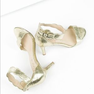 Sole Society Metallic Gold Heel